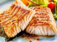 Печена риба треска на скара